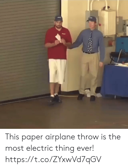 Airplane: This paper airplane throw is the most electric thing ever! https://t.co/ZYxwVd7qGV