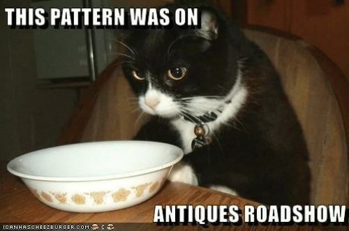antiques roadshow: THIS PATTERN WAS ON  ANTIQUES ROADSHOW  ICANHASCHEEZBURGER.COM