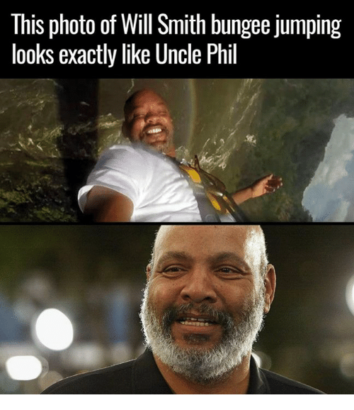 Celebrities, Photos, and Photo: This photo of Will Smith bungee Jumping  looks exactly like Uncle Phil