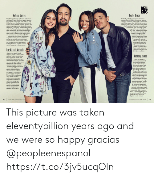 So Happy: This picture was taken eleventybillion years ago and we were so happy gracias @peopleenespanol https://t.co/3jv5ucqOIn