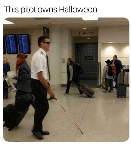 apa: This pilot owns Halloween  Women  apa