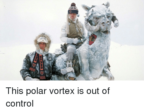 Funny, Control, and Vortex: This polar vortex is out of control