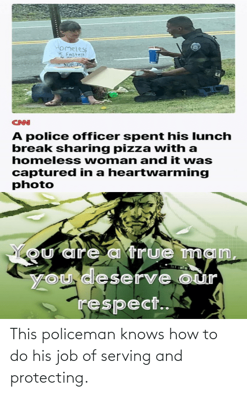 protecting: This policeman knows how to do his job of serving and protecting.