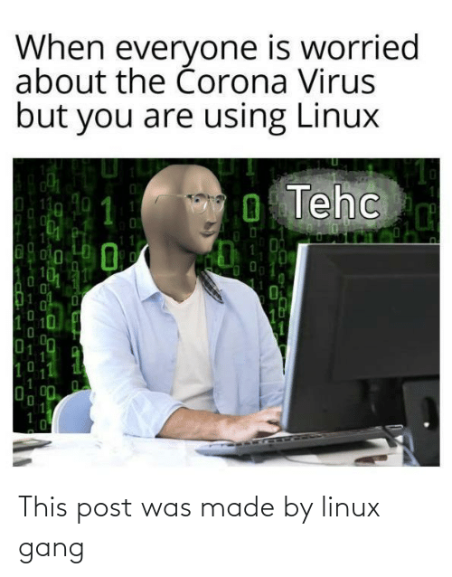 Linux: This post was made by linux gang