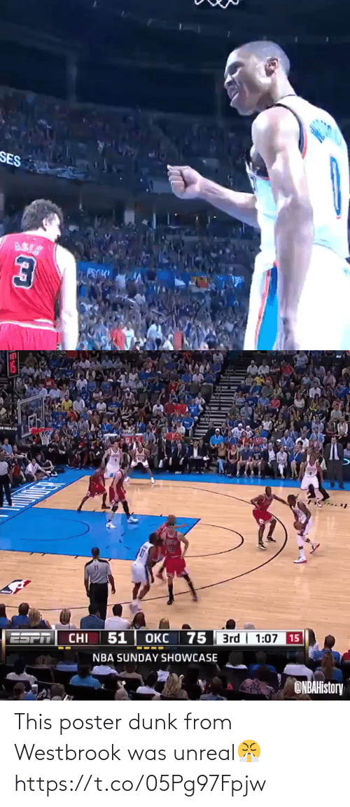westbrook: This poster dunk from Westbrook was unreal😤 https://t.co/05Pg97Fpjw