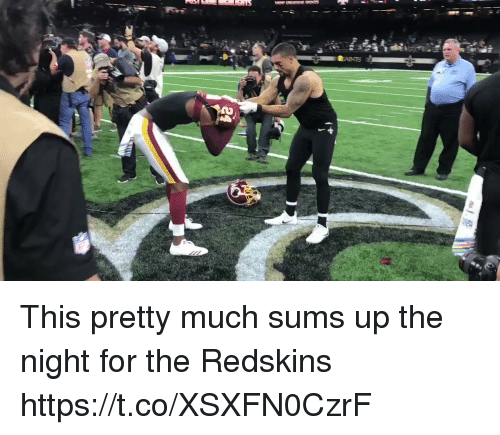 Football, Nfl, and Washington Redskins: This pretty much sums up the night for the Redskins https://t.co/XSXFN0CzrF