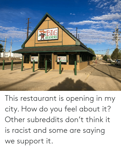 Opening: This restaurant is opening in my city. How do you feel about it? Other subreddits don't think it is racist and some are saying we support it.