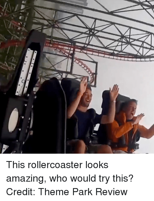 Amazing, Who, and Review: This rollercoaster looks amazing, who would try this?  Credit: Theme Park Review