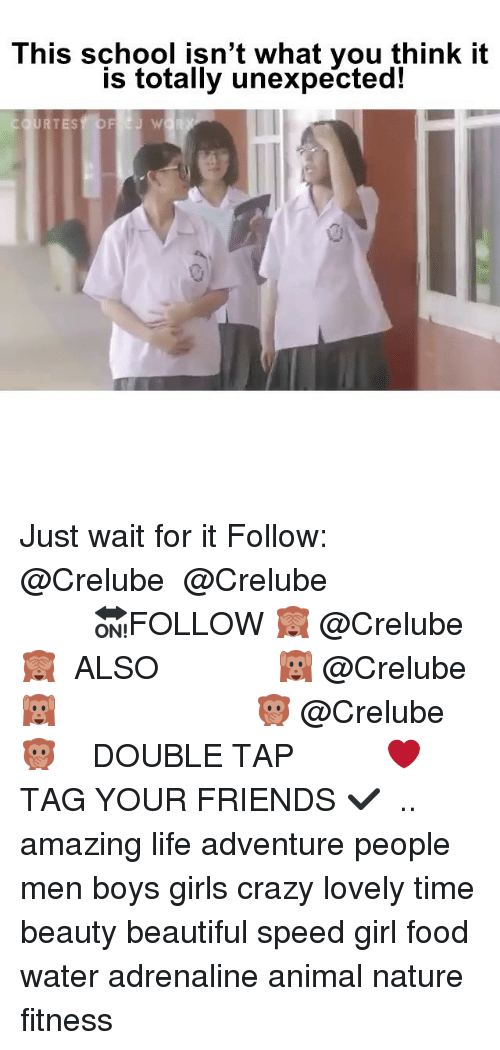 Beautiful, Crazy, and Food: This school isn't what you think it  is totally unexpected!  URTESY OFEJ W Just wait for it Follow: @Crelube ⠀⠀⠀⠀ ⠀@Crelube ⠀⠀⠀⠀ ⠀⠀ ⠀⠀⠀⠀⠀ ⠀⠀🔛FOLLOW 🙈 @Crelube 🙈 ⠀⠀⠀⠀ ⠀⠀⠀⠀⠀⠀ALSO ⠀ 🙉 @Crelube 🙉 ⠀ ⠀⠀ ⠀ ⠀ ⠀ ⠀ ⠀ ⠀⠀⠀⠀⠀ 🙊 @Crelube🙊 ⠀⠀⠀⠀ ⠀ ⠀⠀⠀⠀ DOUBLE TAP ❤️ TAG YOUR FRIENDS ✔️ ⠀⠀⠀⠀ .. amazing life adventure people men boys girls crazy lovely time beauty beautiful speed girl food water adrenaline animal nature fitness