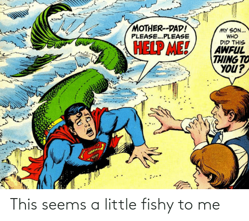 fishy: This seems a little fishy to me