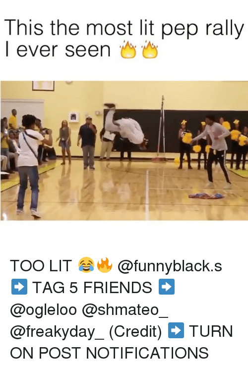 Friends, Lit, and Dank Memes: This the most lit pep rally  I ever seen TOO LIT 😂🔥 @funnyblack.s ➡️ TAG 5 FRIENDS ➡️ @ogleloo @shmateo_ @freakyday_ (Credit) ➡️ TURN ON POST NOTIFICATIONS