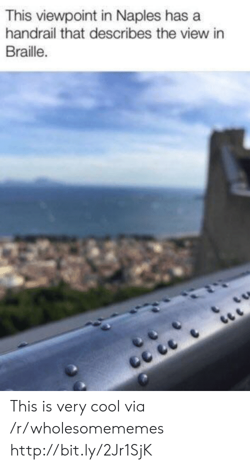 The View: This viewpoint in Naples has a  handrail that describes the view in  Braille. This is very cool via /r/wholesomememes http://bit.ly/2Jr1SjK