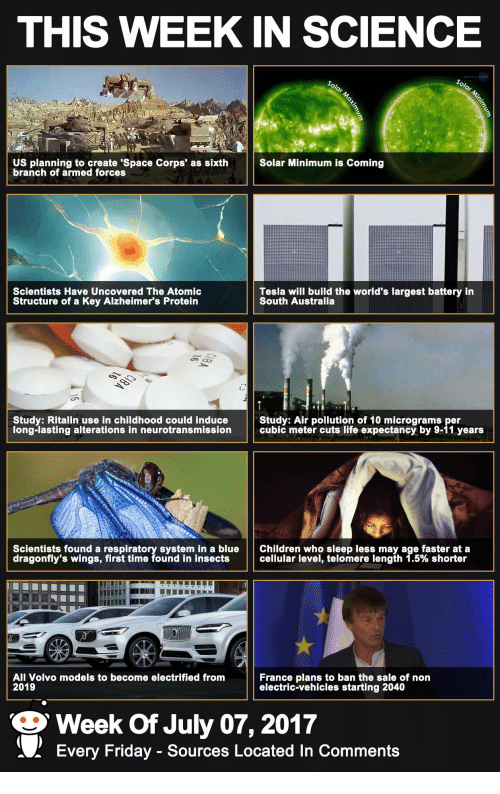THIS WEEK IN SCIENCE US Planning to Create 'Space Corps ...