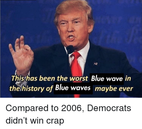 blue waves: Thishas been the worst Blue wave in  the history of Blue waves maybe ever