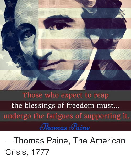 blessings of freedom The idea of freedom in american history  -- those entitled to enjoy the blessings of liberty protected by the constitution -- came to be defined by race no.