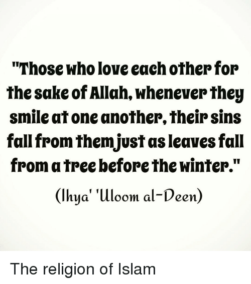 Love Each Other Religious: Those Who Love Each Other For The Sake Of Allah Whenever
