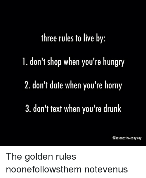 adult dating rules