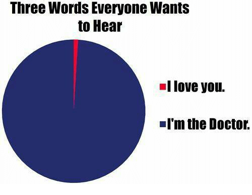 I Love You, Man: Three Words Everyone Wants  to Hear  I love you.  I'm the Doctor.