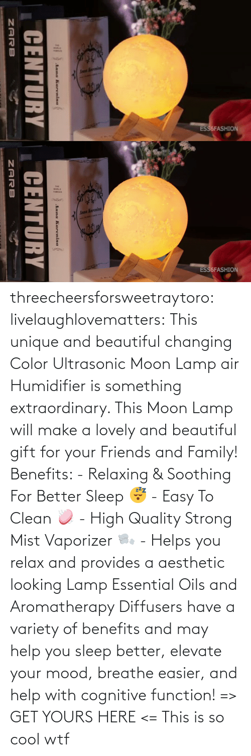 Changing: threecheersforsweetraytoro: livelaughlovematters:   This unique and beautiful changing Color Ultrasonic Moon Lamp air Humidifier is something extraordinary. This Moon Lamp will make a lovely and beautiful gift for your Friends and Family! Benefits:  - Relaxing & Soothing For Better Sleep 😴 - Easy To Clean 🧼 - High Quality Strong Mist Vaporizer 🌬️ - Helps you relax and provides a aesthetic looking Lamp Essential Oils and Aromatherapy Diffusers have a variety of benefits and may help you sleep better, elevate your mood, breathe easier, and help with cognitive function! => GET YOURS HERE <=    This is so cool wtf