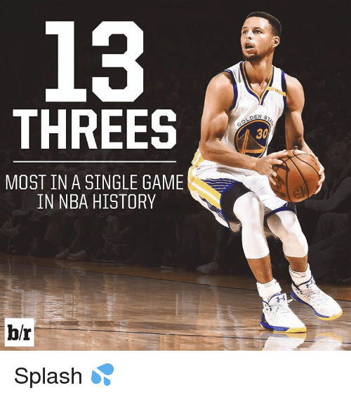 Sports, Game, and Games: THREES  MOST IN A SINGLE GAME  IN NBA HISTORY  br  DEN s,  30 Splash 💦