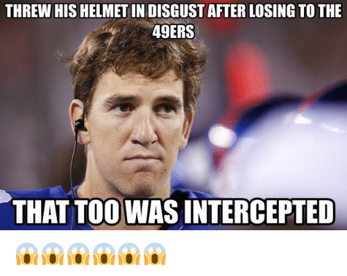 NFL: THREW HIS HELMET INDISGUST AFTER LOSING TO THE  49ERS  THAT TOO WASINTERCEPTED 😱😱😱😱😱😱