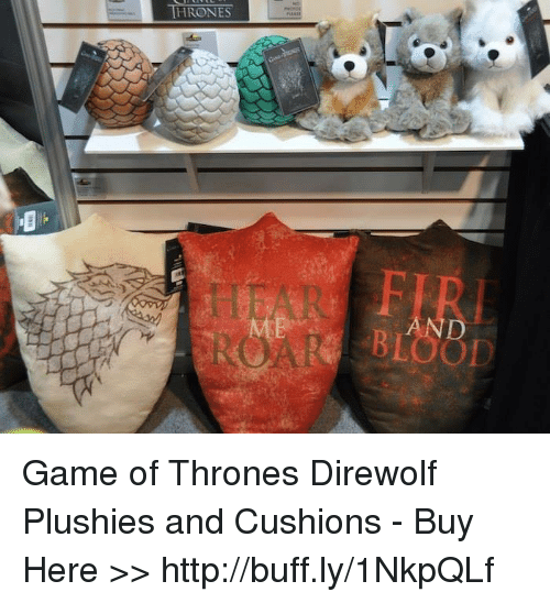 Plushy: THRONES  BLOOD Game of Thrones Direwolf Plushies and Cushions - Buy Here >> http://buff.ly/1NkpQLf