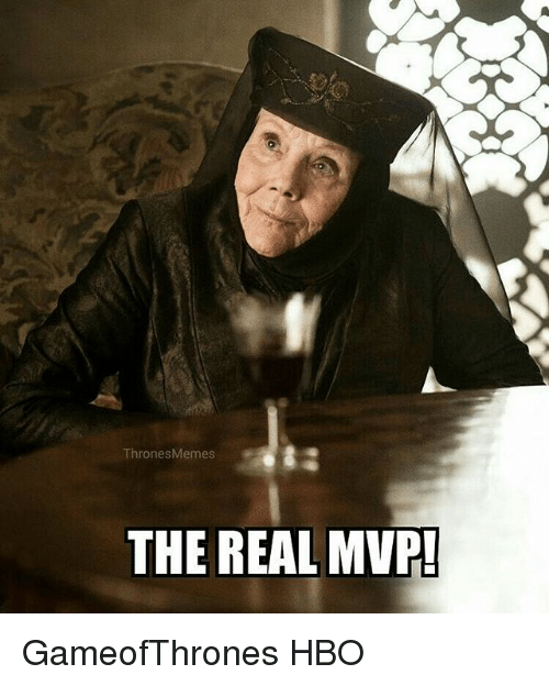 Hbo, Memes, and The Real: ThronesMemes  THE REAL MVP! GameofThrones HBO