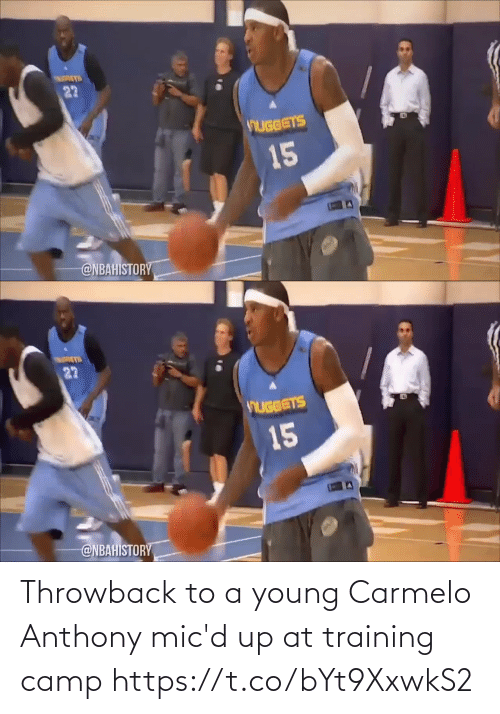 Young: Throwback to a young Carmelo Anthony mic'd up at training camp https://t.co/bYt9XxwkS2