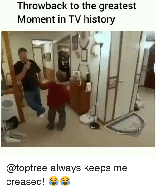 Memes, History, and 🤖: Throwback to the greatest  Moment in TV history @toptree always keeps me creased! 😂😂
