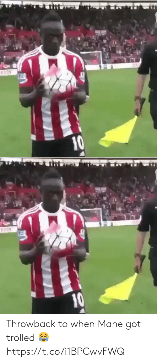throwback: Throwback to when Mane got trolled 😂 https://t.co/i1BPCwvFWQ