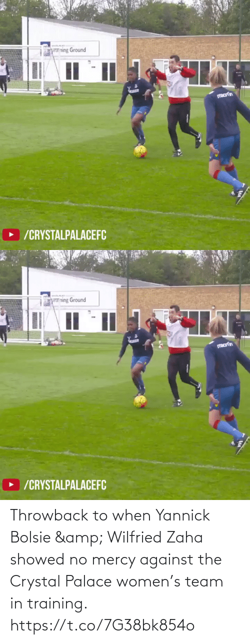 Showed: Throwback to when Yannick Bolsie & Wilfried Zaha showed no mercy against the Crystal Palace women's team in training. https://t.co/7G38bk854o