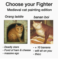 Medieval Cat Painting