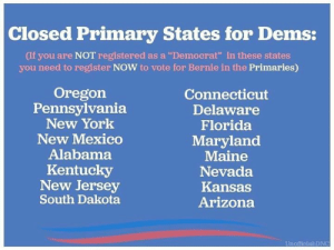 Closed Primary States for Dems if You Are NOT Registered ...