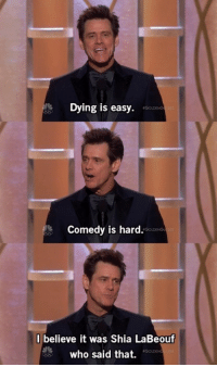 Dying Is Easy Comedy Is Hard
