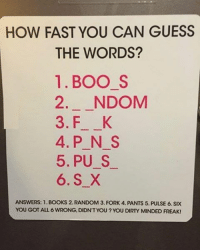 dirty minded