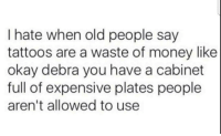 Expensive Plates