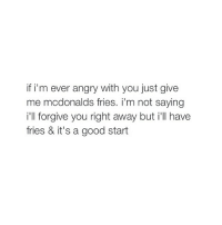 Going back to your ex is like reheating mcdonalds fries apparently mcdonalds fries fandeluxe Images