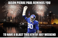 Jason Pierre Paul Be Like Uit Icouldnever Commit A Facemask Penalty
