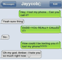 I Lost My Phone