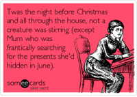 the night before christmas and all through the house