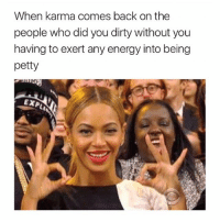 being petty