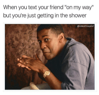 Getting In The Shower