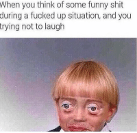 trying not to laugh