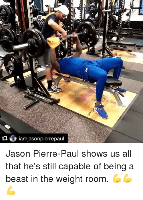 pierre paul: ti iamajasonpierrepaul Jason Pierre-Paul shows us all that he's still capable of being a beast in the weight room. 💪💪💪