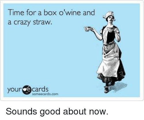 time for a box o wine and a crazy straw 6533173 🔥 25 best memes about wine, box, boxing, and 🤖 wine, box,Box Wine Meme