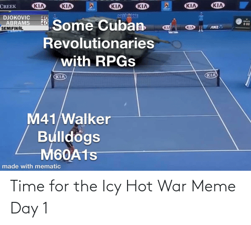 Meme Day: Time for the Icy Hot War Meme Day 1