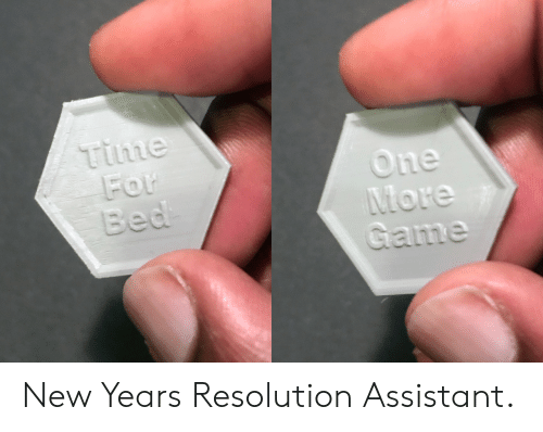 new year's resolution: time  he New Years Resolution Assistant.
