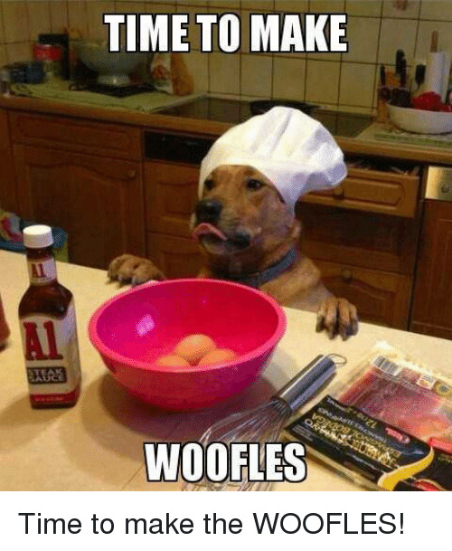 Memes, Time, and 🤖: TIME TO MAKE  Al  WOOFLES Time to make the WOOFLES!