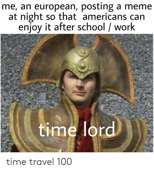 Travel: time travel 100
