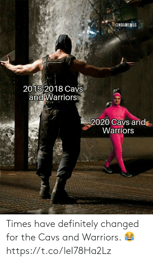 cavs: Times have definitely changed for the Cavs and Warriors. 😂 https://t.co/leI78Ha2Lz